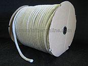 Ceramic Fiber Rope Round Braid with Glass Insert Size: 1