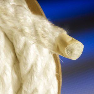 fiberglass rope with vermiculite coating